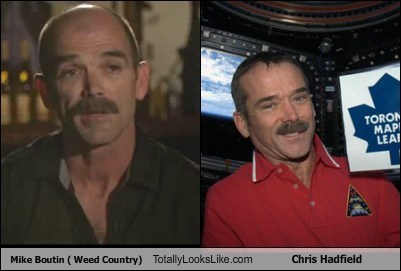 Mike Boutin ( Weed Country) Totally Looks Like Chris Hadfield
