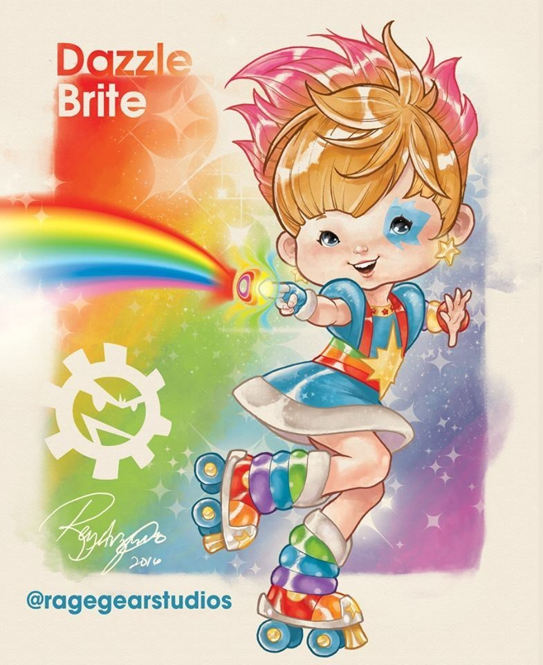 mashup art list x men rainbow brite - 748805