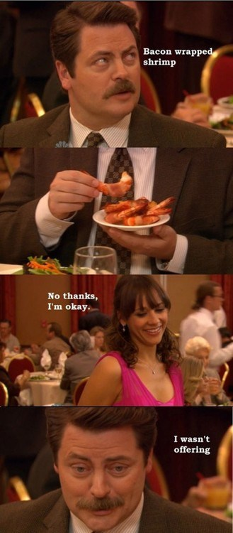 parks and recreation noms funny bacon - 7489917952