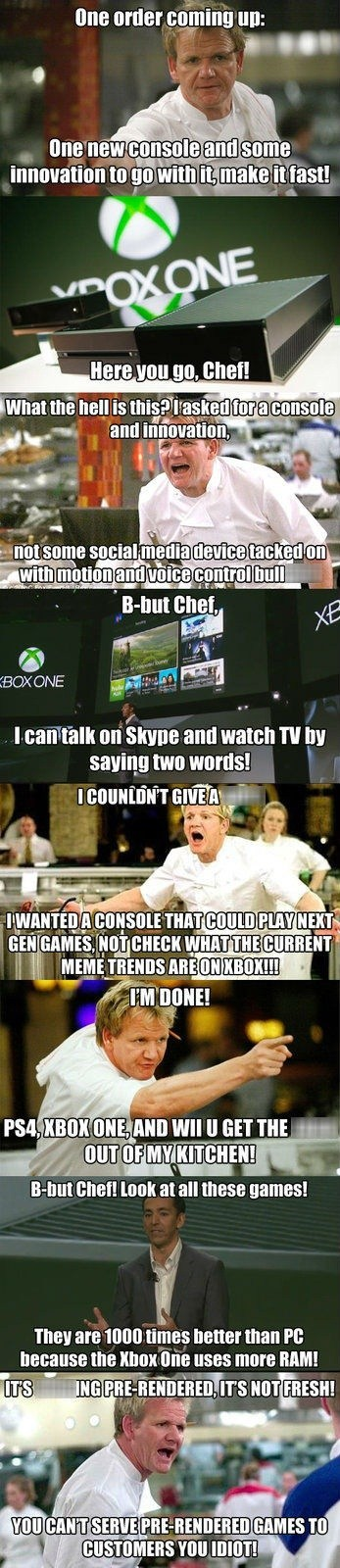 kitchen nightmares,gordon ramsay,xbox reveal,funny,xbox one