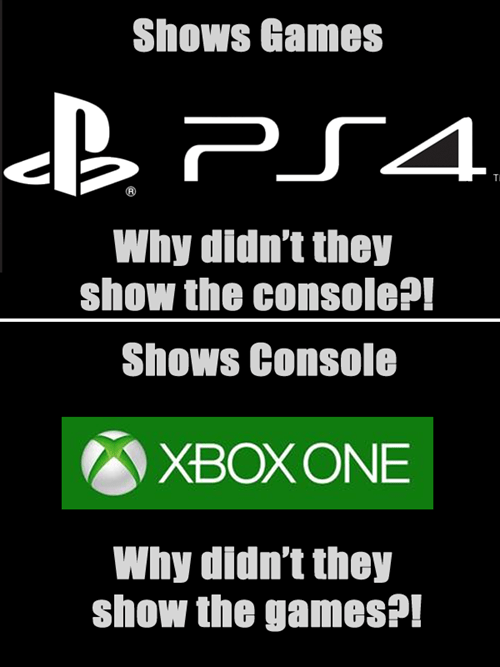 PlayStation 4,gamers,xbox reveal,funny,xbox one