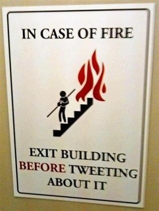 twitter,emergency,tweeting,fire escape,fire,hashtags,fire exit,funny