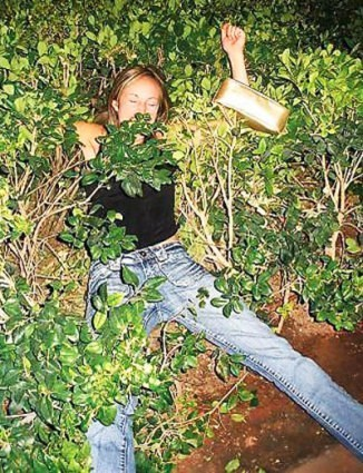 tired,passed out,funny,bush