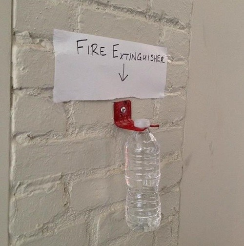 budget cuts safety first fire extinguisher Office funny fail nation g rated - 7490801920