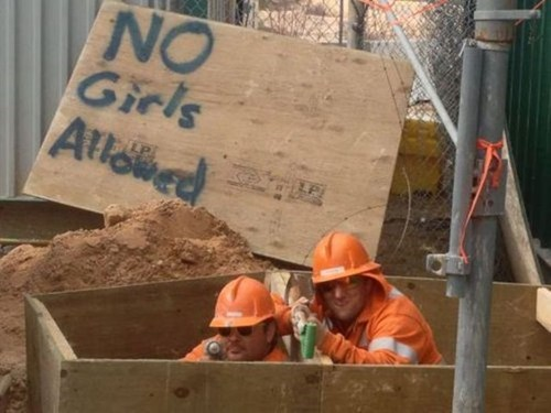 cooties constructon workers no girls allowed funny