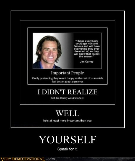 self esteem important jim carey funny