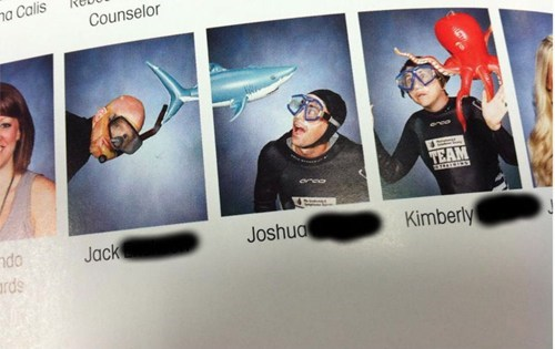 scuba,yearbook,funny