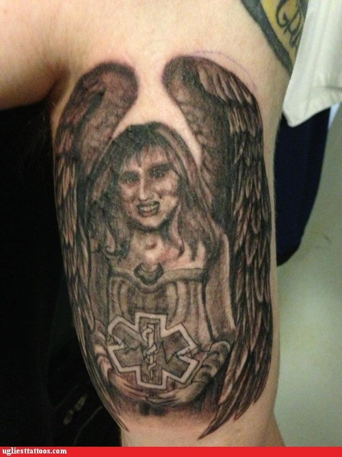 logos angels tattoos funny - 7492136192