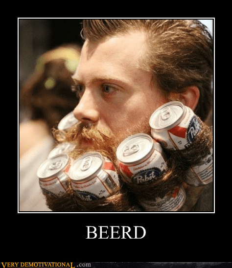 beer man beard pbr funny
