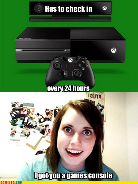oag,overly attached girlfriend,funny,xbox one