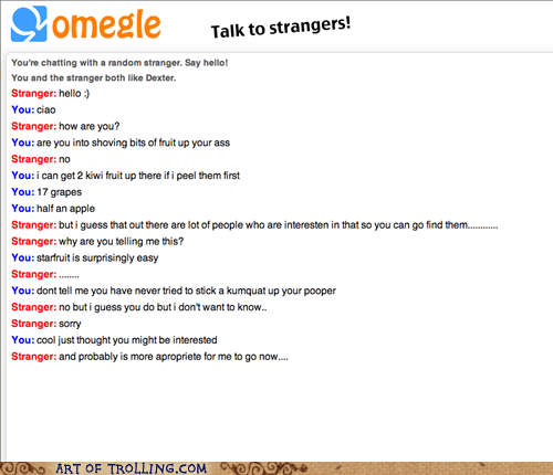 Omegle,fruit shoot,funny,fruit
