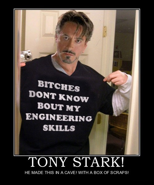 engineering tony stark iron man - 7494576640