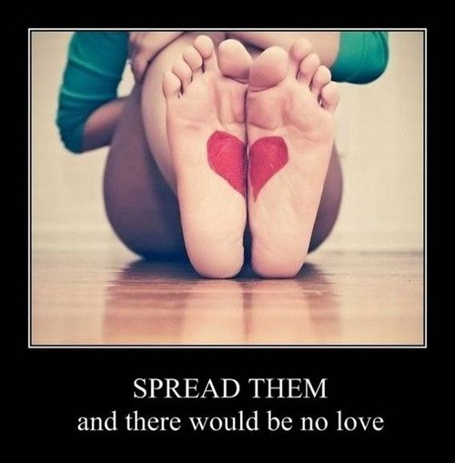 heart spread legs feet love funny