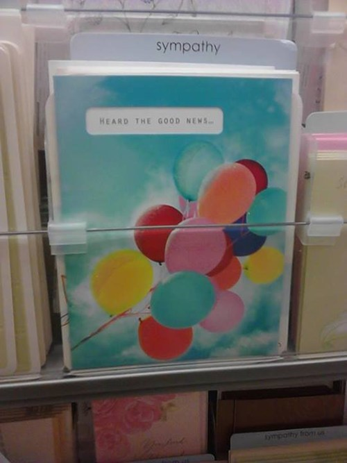 greeting cards,hallmark,congratulations,funny,sorrow,sympathy