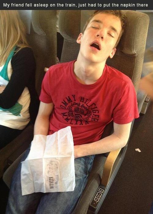 napkin public transportation fapping