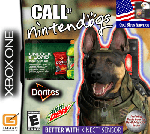 call of duty,dogs,wii U,PlayStation 4,mountain dew,doritos,kinect,video games,funny,nintendo,xbox one