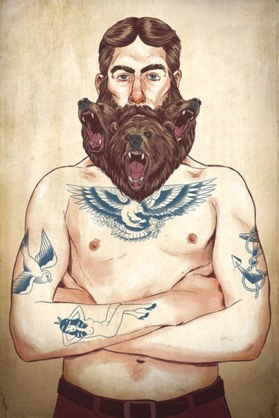 bears,beards,funny