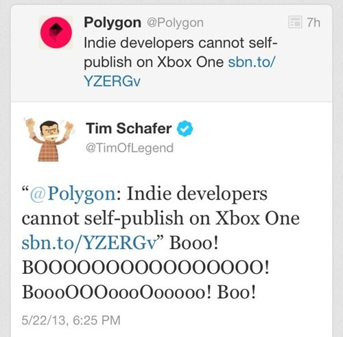 tim schafer twitter polygon indie games funny - 7494850816