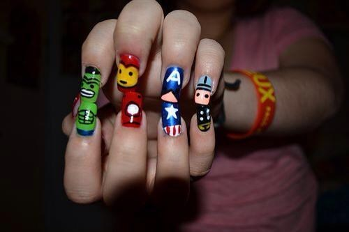 nails art awesome funny avengers - 7494857216