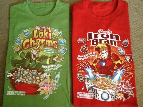 loki,breakfast,t shirts,iron man,funny