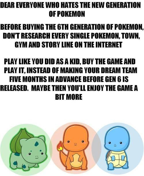 Play Pokémon, Have Fun, and Enjoy the Experience