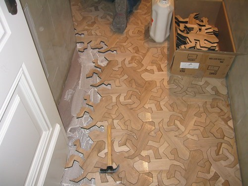 escher floor tile design tessellation illusion g rated win
