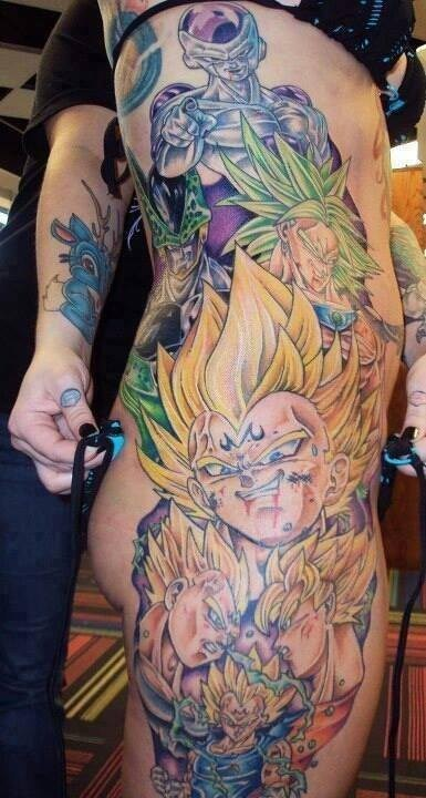 Dragon Ball Z,tattoos,cartoons