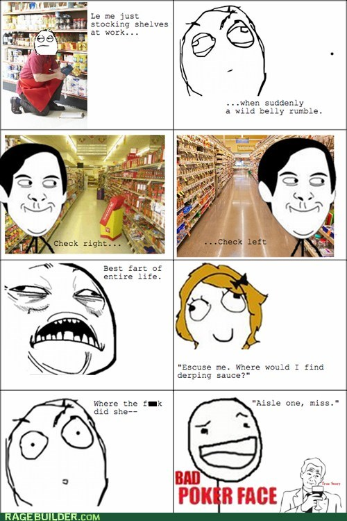 farts poker face bad poker face bad timing funny grocery store - 7496409600