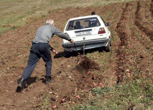 farming,VW Golf,funny,there I fixed it