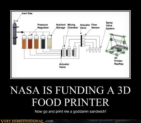 nasa,future,science,food,funny,printer