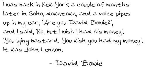 Music john lennon SoHo david bowie new york funny