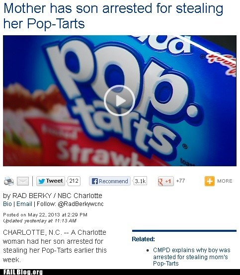 pop tarts,news,parenting,Probably bad News,funny,fail nation,g rated