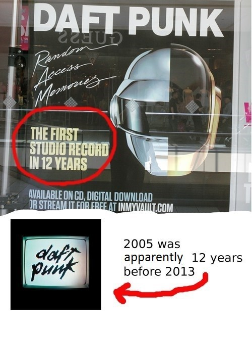 Music FAIL human after all random access memories daft punk funny g rated - 7497516544