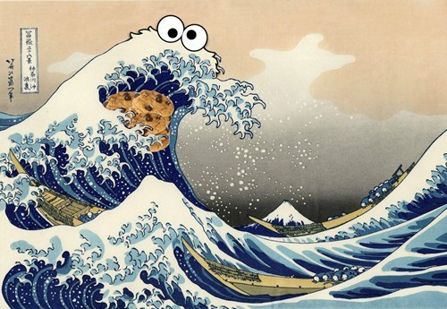 art Cookie Monster funny - 7497688832