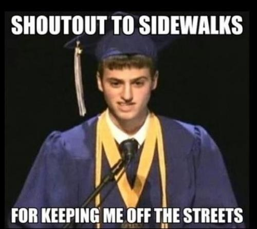 student graduation smart sidewalk funny - 7497750272