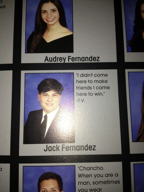 yearbook TV quote funny win