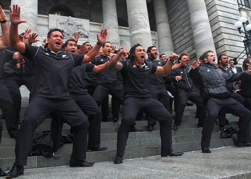 The intimidation dance in New Zealand.