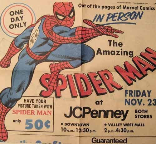 Spider-Man in person jc penny - 7498090496