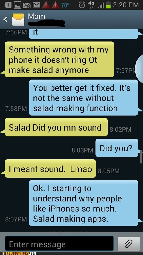 iPhones,salads,funny