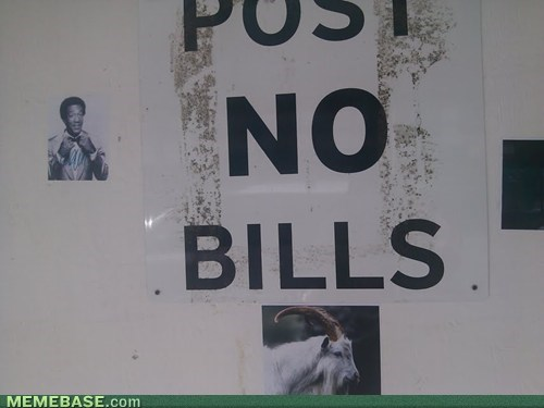 bill cosby,signs,puns,billy goat,funny