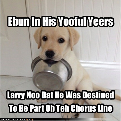 chorus line musical food bowl funny