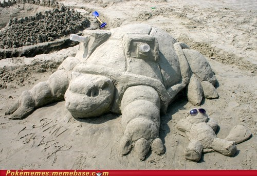 Pokémon blastoise IRL awesome squirtle sand funny - 7500562688