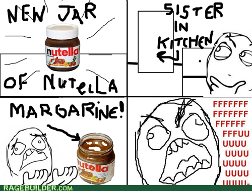 sisters,margarine,nutella,kitchen,food,funny