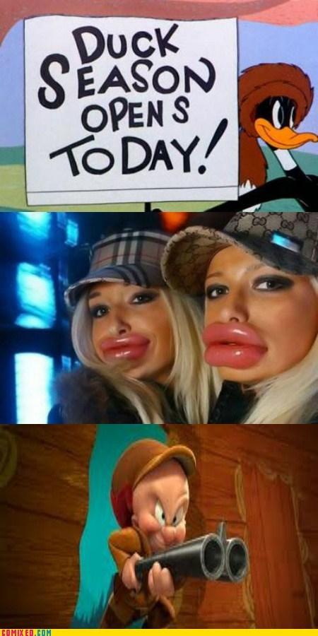 duck lips,elmer fudd,jk,funny