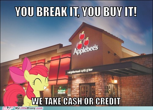 apple bloom applebees funny - 7502436608