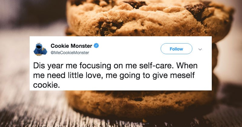 sesame street cookie monster tweets