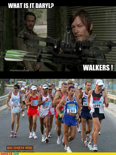 walkers,The Walking Dead,zombie,funny