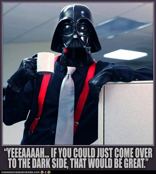star wars Office Space darth vader - 7503238656