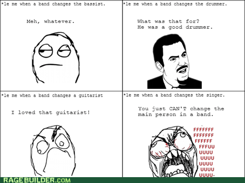 Music bassists drummers lead singers bands funny Rage Comics - 7503535872
