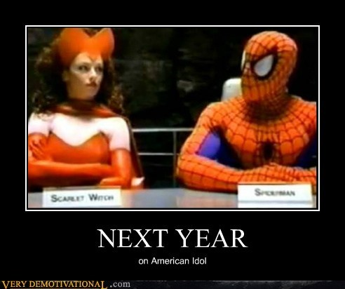 scarlet witch,Spider-Man,funny,American Idol